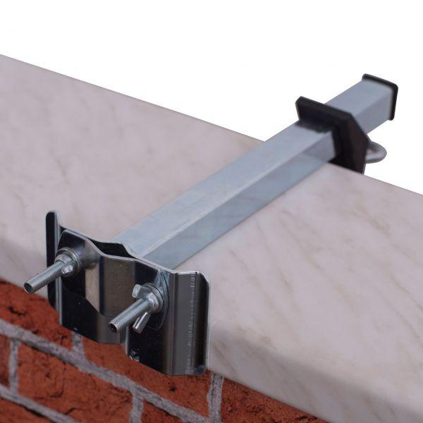 Sonnenschirmhalter für Mauerbrüstung, verzinkt