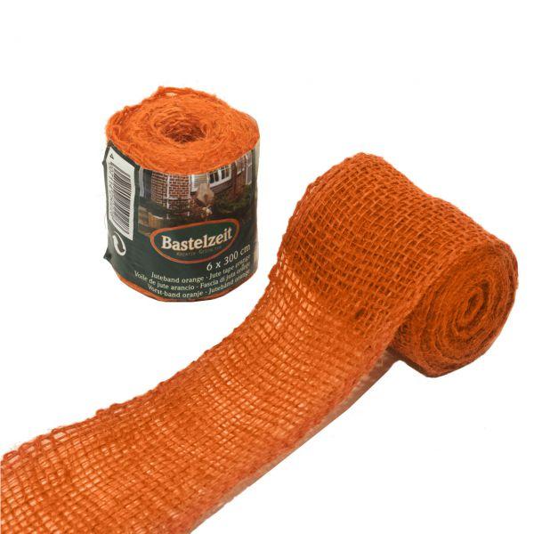 Deko-Juteband, orange