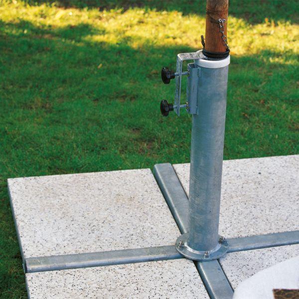 Videx Sonnenschirmständer für Wegeplatten
