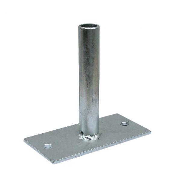 Bodenplatte für Aufsteckpfosten, feuerverzinkt