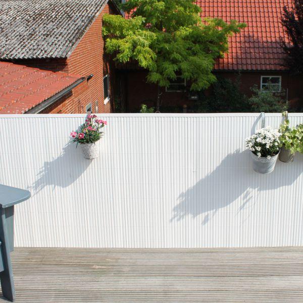 Sichtschutzmatte Kunststoff, Rügen weiß