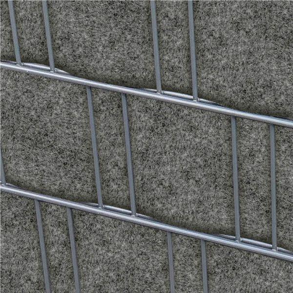 Sichtschutzstreifen PES Gewebe für Stabgitterzaun, grau