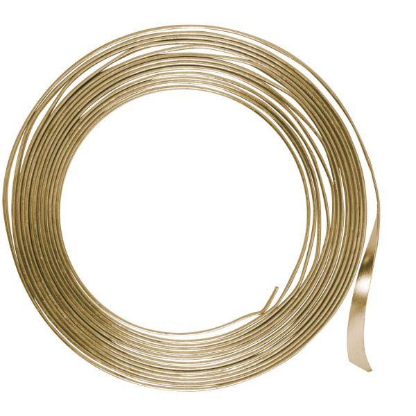 Flachdraht 5mm aus Aluminium, gold
