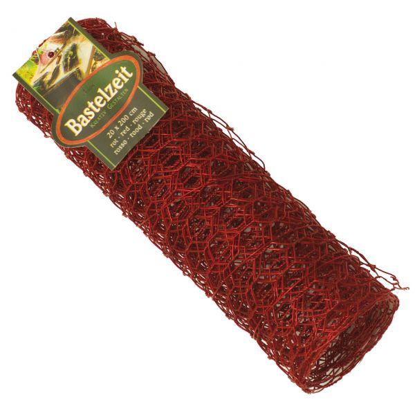 Basteldrahtgewebe, witterungsbeständig, rot