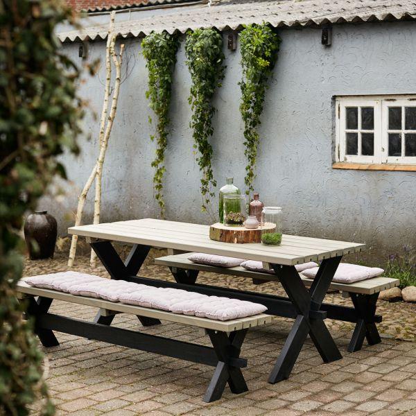 Gartentisch & Bänke NOSTALGIE als Set