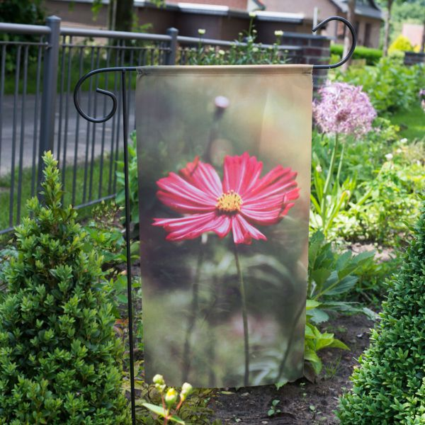 Gartenfahne - Blumenstecker Cosmea