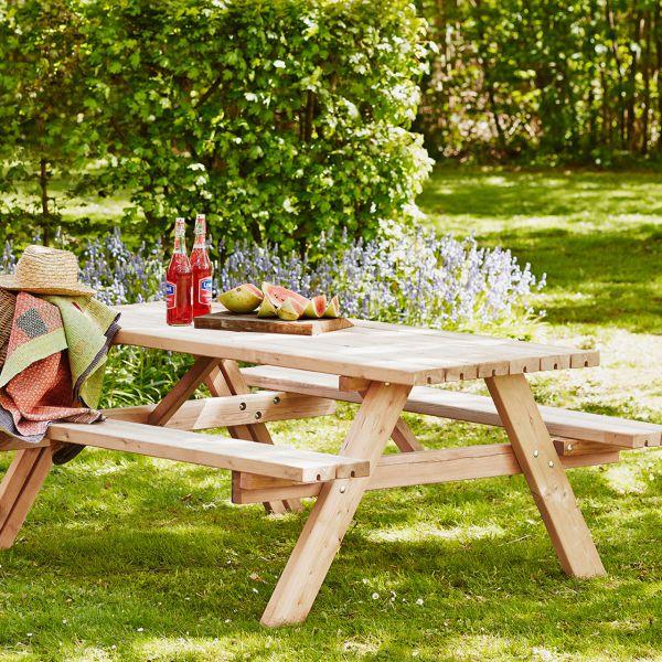 DEA Picknicktisch mit Bänken SCANDIC, Lärchenholz