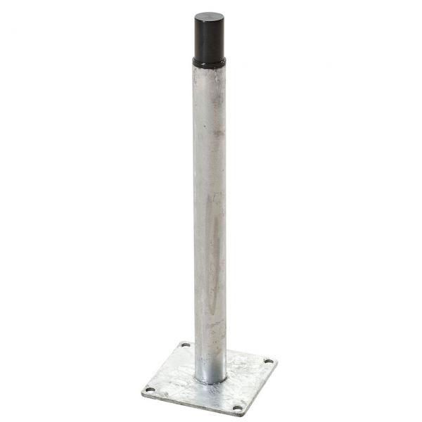 Metallfuß für WPC-Pfosten 9x9 cm mit Stahlkern