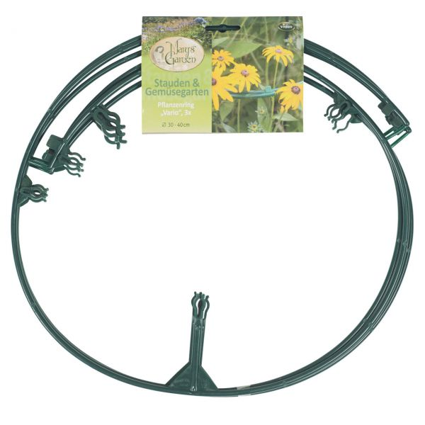 flexibler Pflanzenring Kunststoff, 3 Stück grün