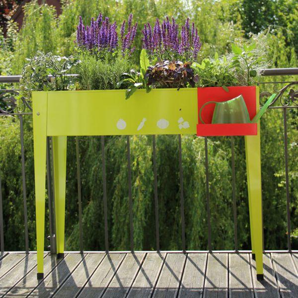 metall hochbeet balkon 100 x 40cm mai gr n. Black Bedroom Furniture Sets. Home Design Ideas