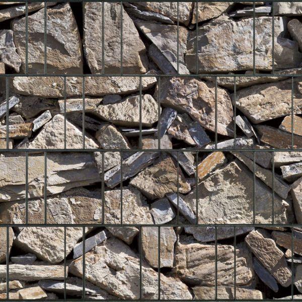 Sichtschutzstreifen bedruckt, Motiv Naturstein Provence