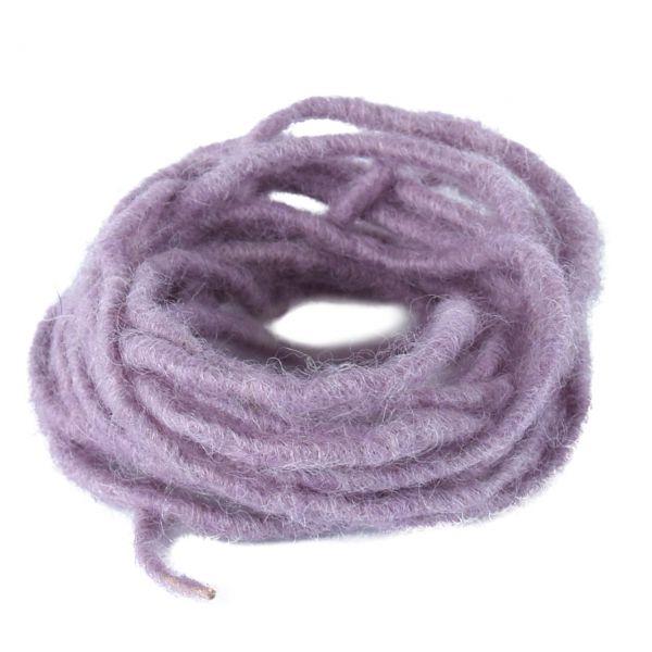 Woll-Dochtfaden, Ø 5 mm, flieder