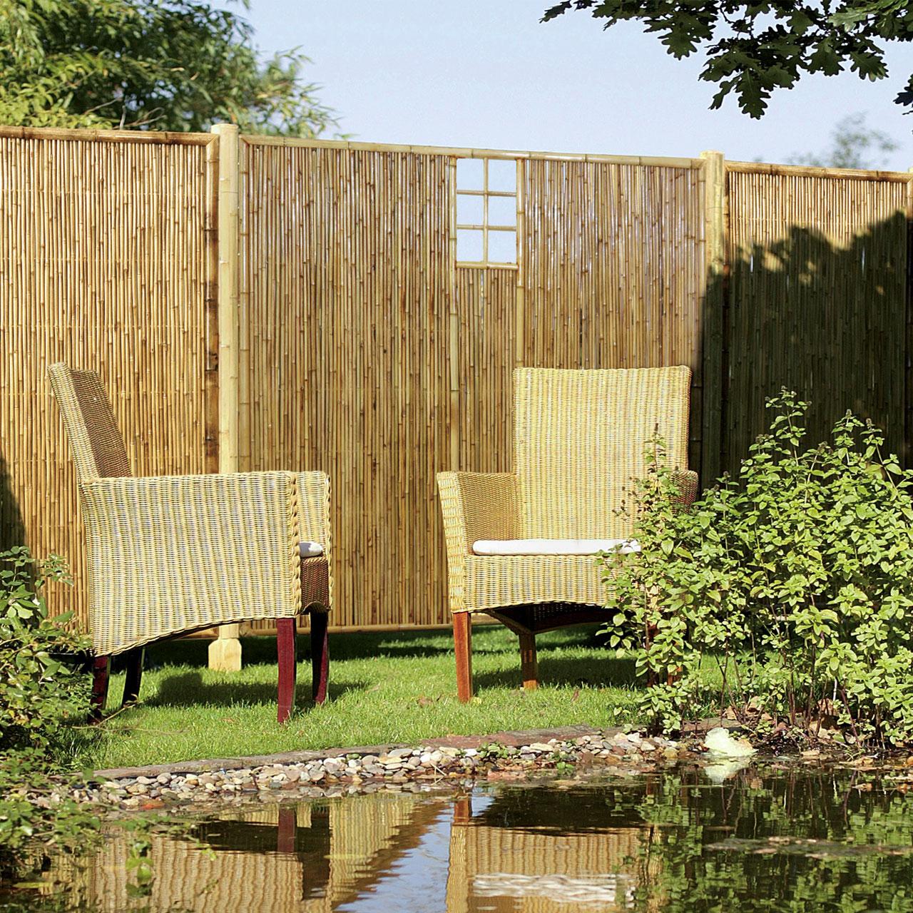 sichtschutzwand bambus zen ziergitter mittig. Black Bedroom Furniture Sets. Home Design Ideas