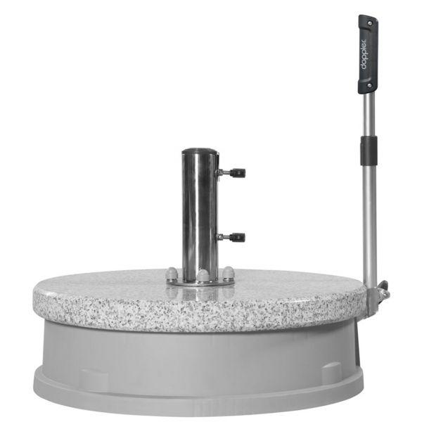 Sonnenschirmständer Granit mit Rollsockel 30kg