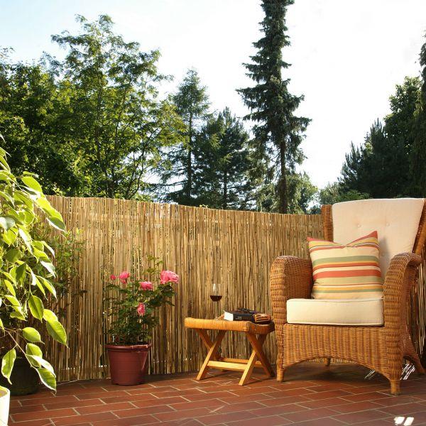 Bambusmatte, Sichtschutzmatte Tonkin natur
