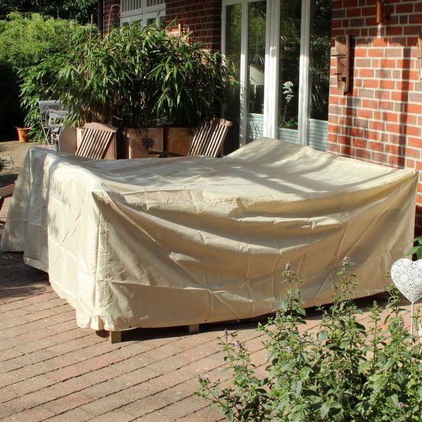 Gartenmöbel-Schutzhülle rechteckige Tischgruppe, beige