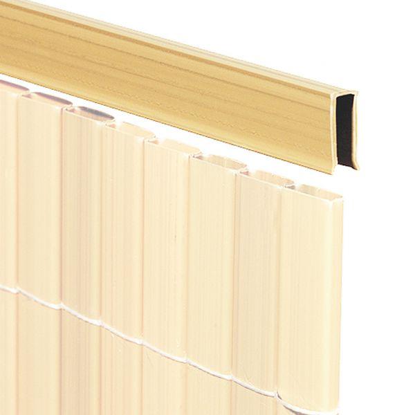 U-Profil für Sichtschutzmatte Rügen, bambus