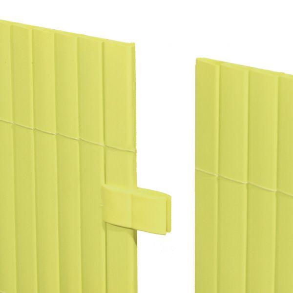 Mattenverbinder für Sichtschutzmatte Rügen, pastellgrün