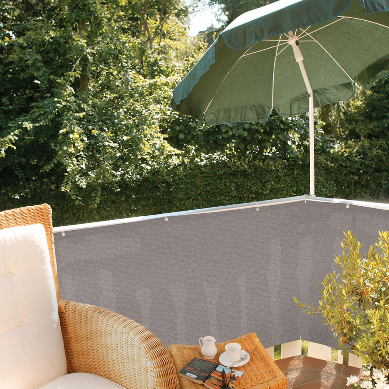 balkonbespannung pe classic grau. Black Bedroom Furniture Sets. Home Design Ideas