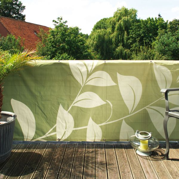 Balkonverkleidung Banner Natura, grün