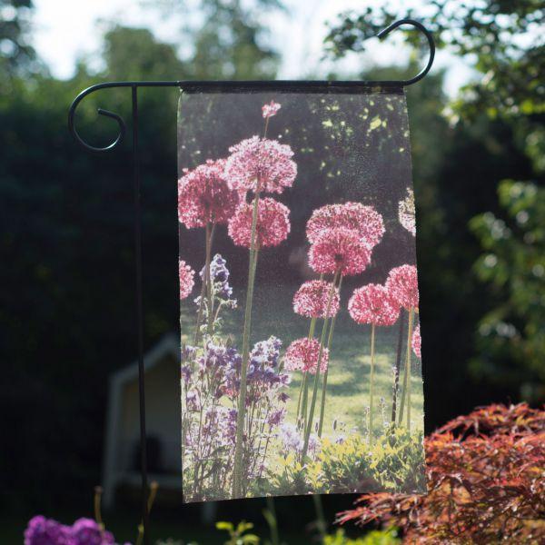 Gartenfahne - Blumenstecker Allium