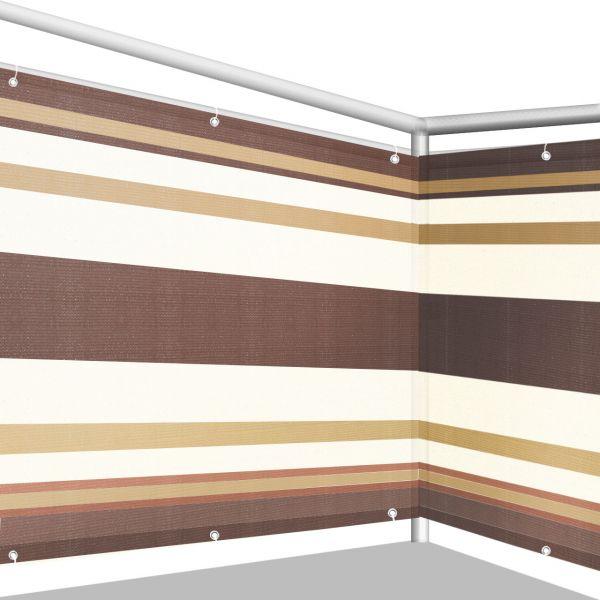Balkonbespannung PE, Design braun/beige