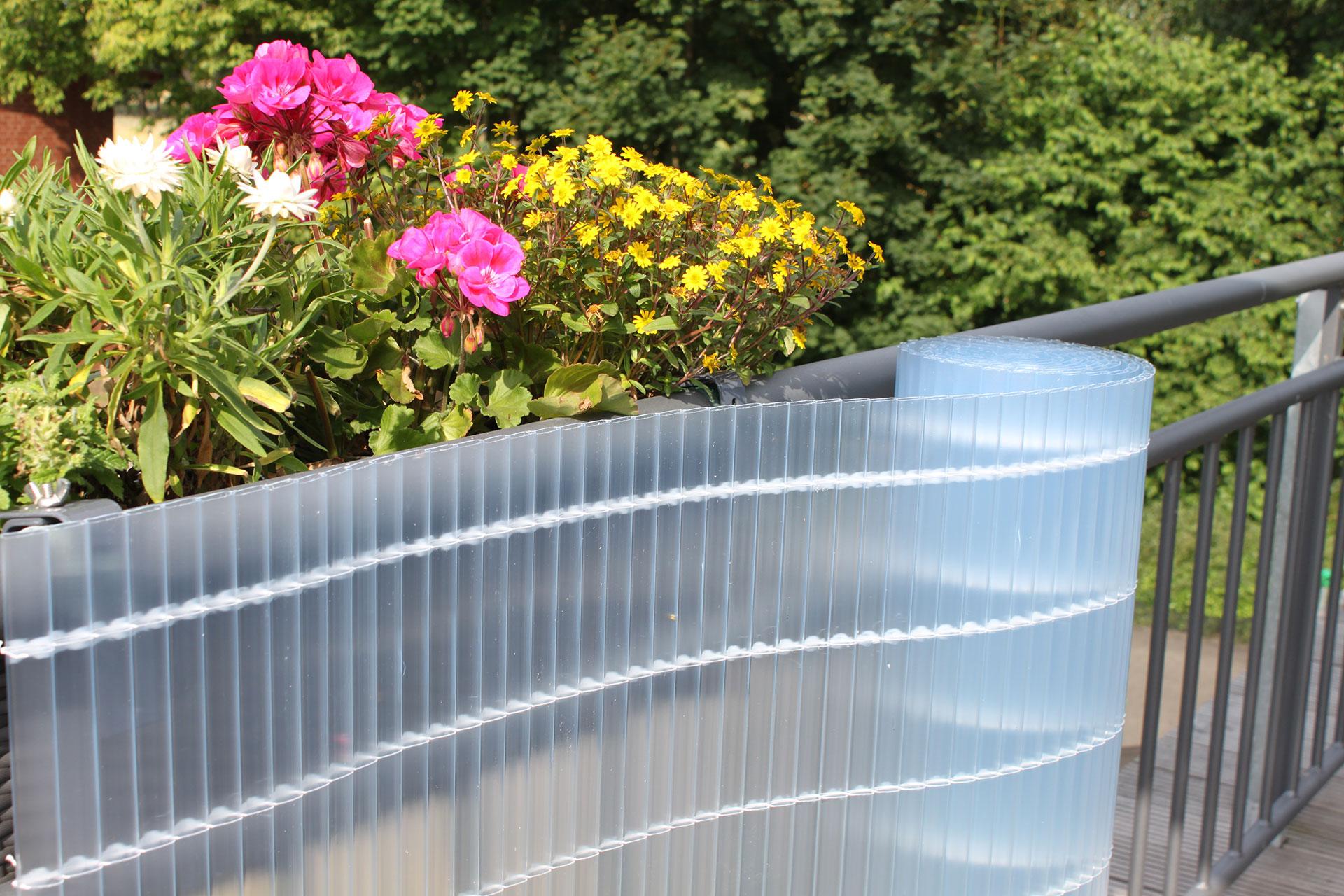 Balkonverkleidung Videx Sichtschutzmatten PVC Rügen