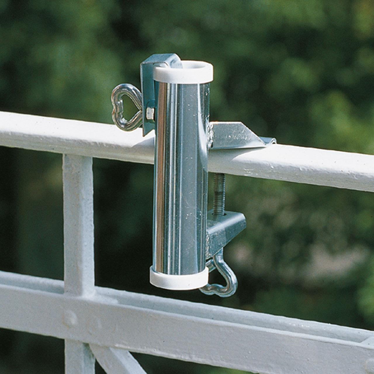 sonnenschirmhalter balkon handlauf videx verzinkt. Black Bedroom Furniture Sets. Home Design Ideas