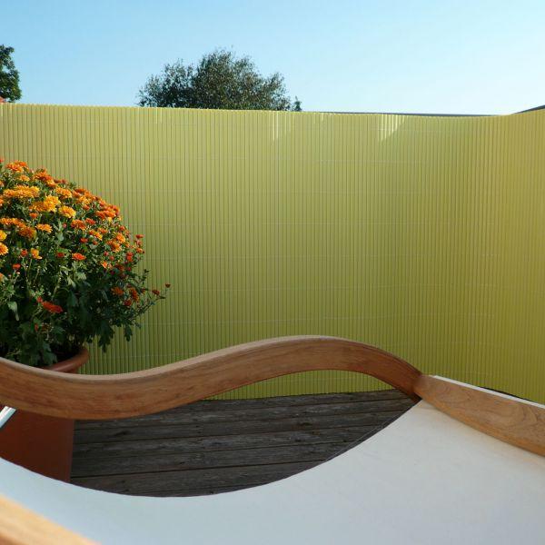 Sichtschutzmatte Kunststoff Montageset, Rügen pastellgrün