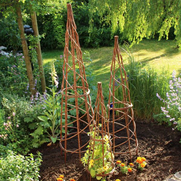 weiden obelisk rankhilfe noa natur. Black Bedroom Furniture Sets. Home Design Ideas