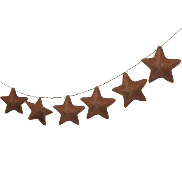 Solar Lichterkette Stern, dunkelbraun