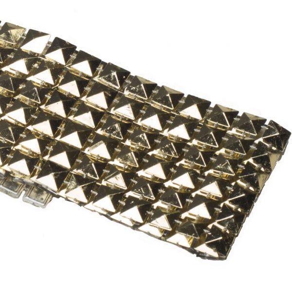 Dekoband Nieten, Pyramiden gold-glänzend