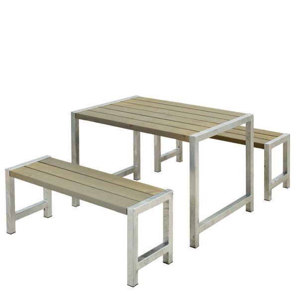 Balkonmöbel-Set PLANKEN, 127cm