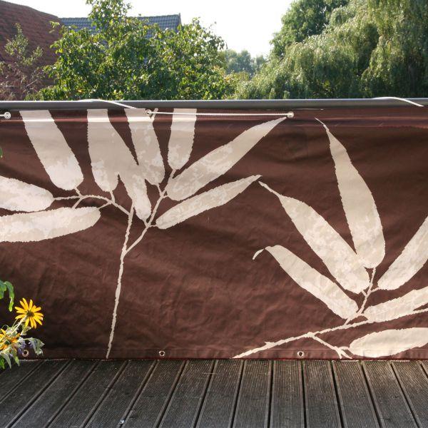 Balkonverkleidung Banner Bambus, braun