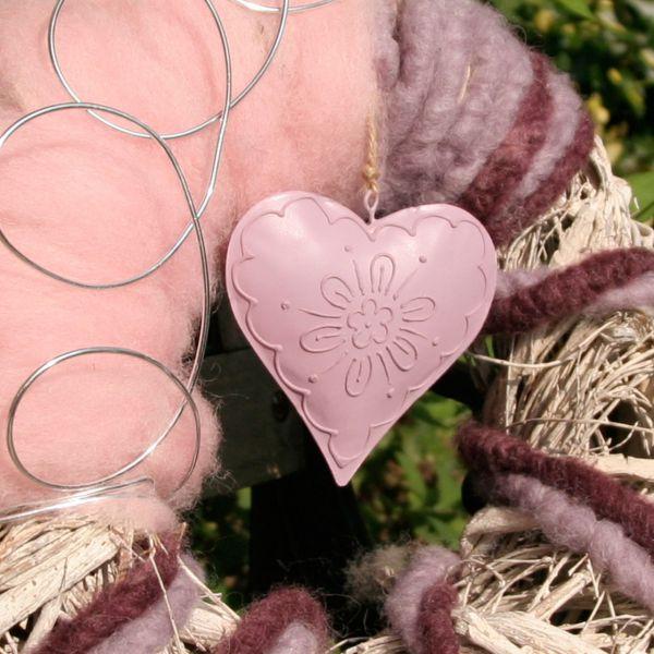 Deko-Anhänger Herz Flora