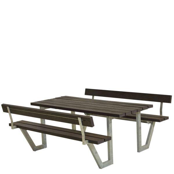 Picknicktisch mit Bänken WEGA & Lehnen