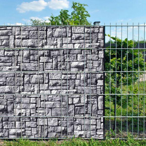 Sichtschutzstreifen bedruckt, Motiv Steinlabyrinth Zermatt