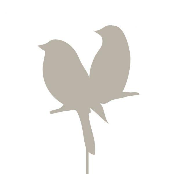 Metall-DekoStecker Vogelpaar, 26 cm
