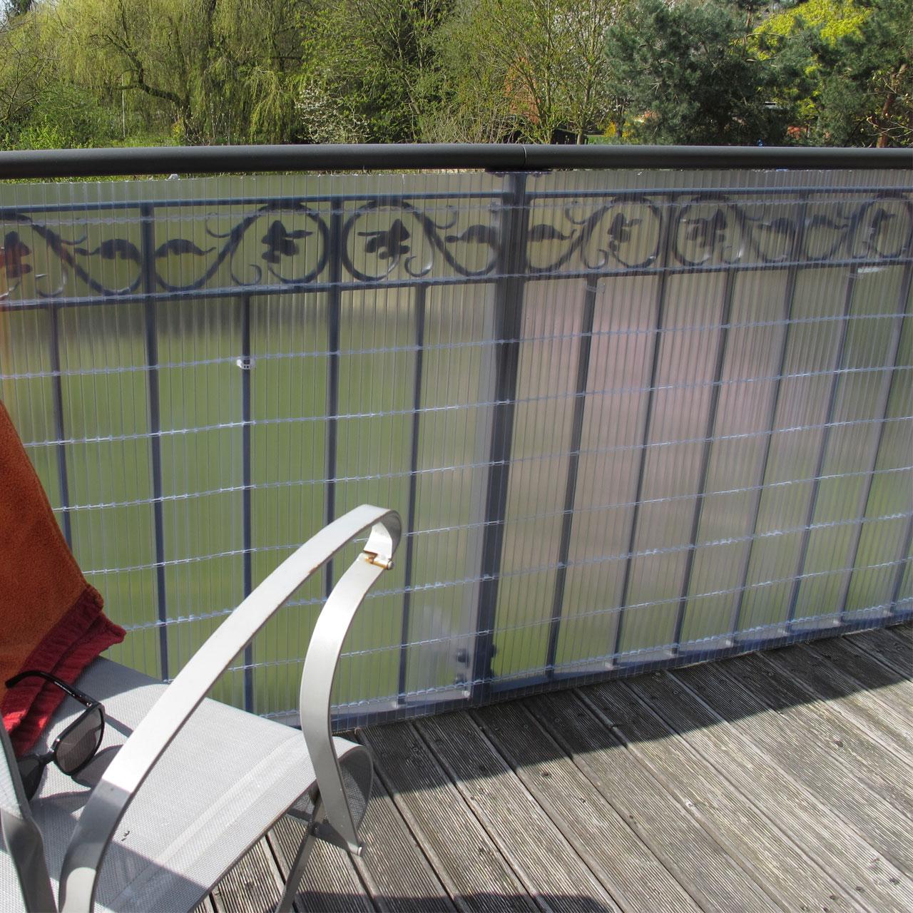 Sichtschutzmatte Kunststoff Sunline Transparent Balkonerlebnis De