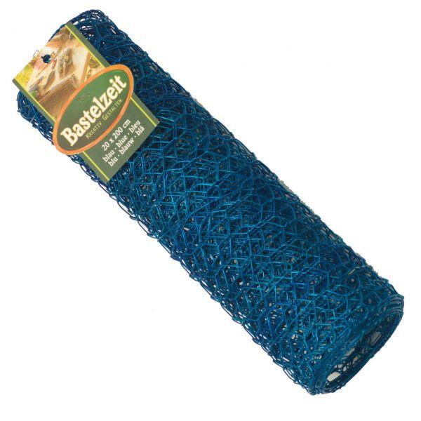 Basteldrahtgewebe, witterungsbeständig, blau