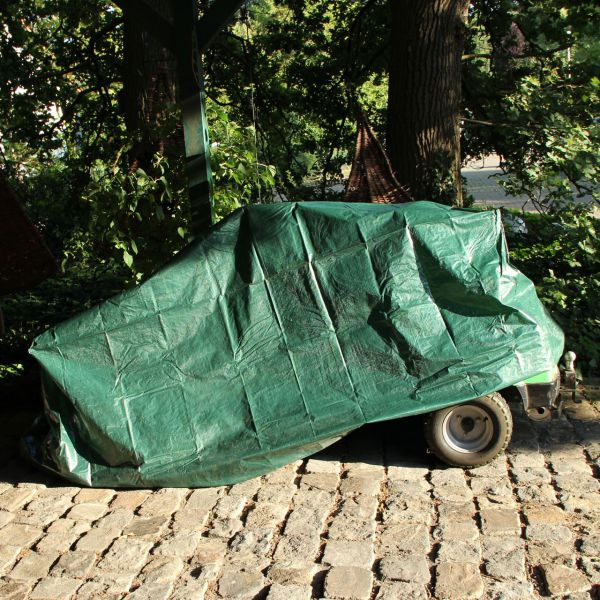Schutzhaube PE für Aufsitzrasenmäher, grün