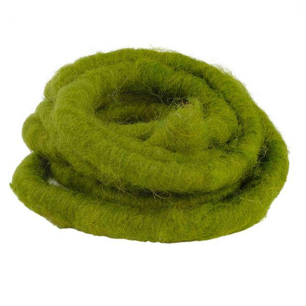 Woll-Filzkordel mit Draht Ø 15 mm, grün