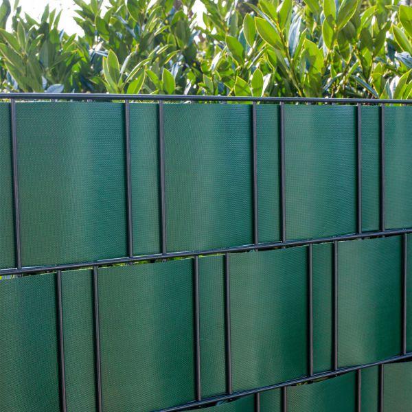 PVC-Flex Sichtschutzstreifen Doppelstabmattenzaun, grün