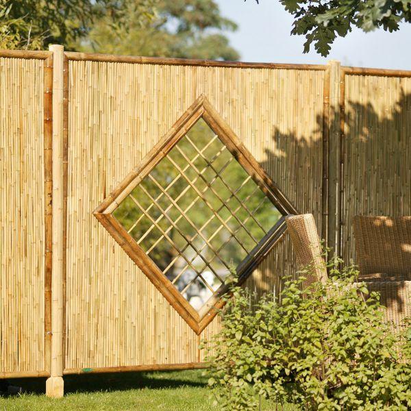 Sichtschutzwand Bambus, ZEN Raute