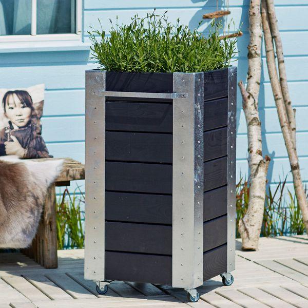 Mobiler Blumenkasten Cubic Quadrat, H: 95cm