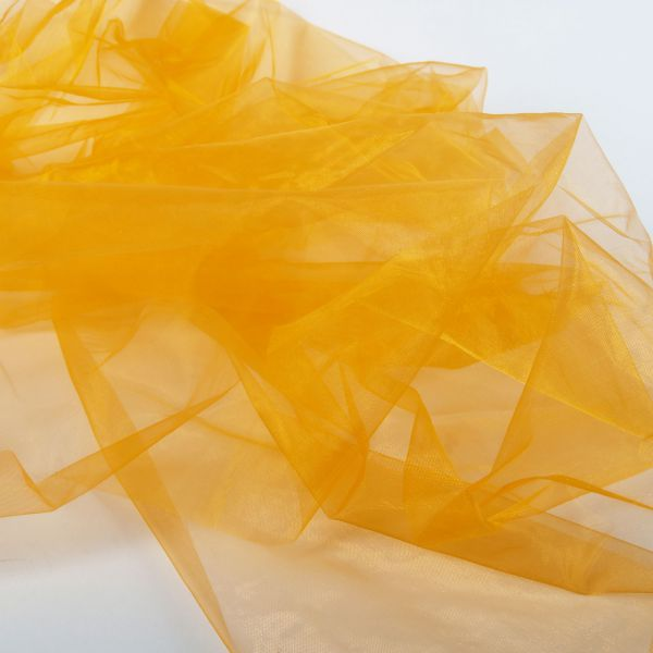 Dekostoff Organza, orange