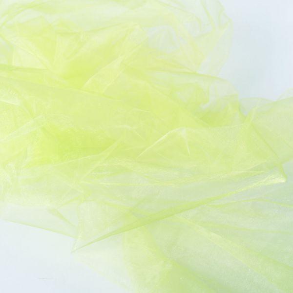 Dekostoff Organza, hellgrün