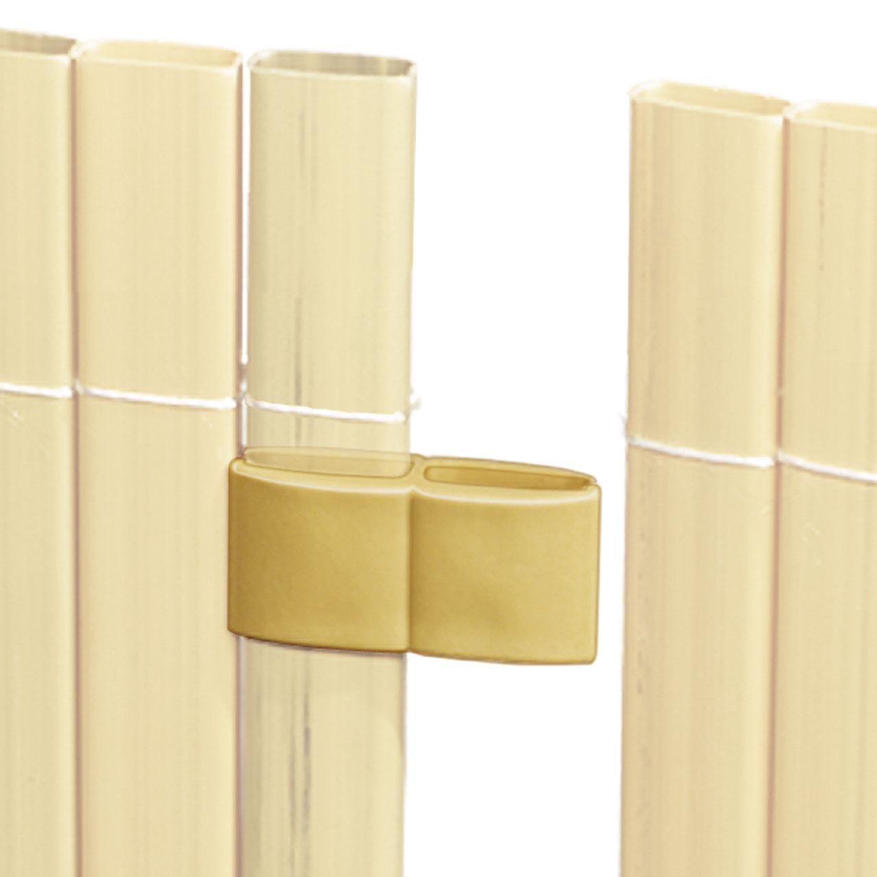 mattenverbinder f r sichtschutzmatte r gen bambus. Black Bedroom Furniture Sets. Home Design Ideas