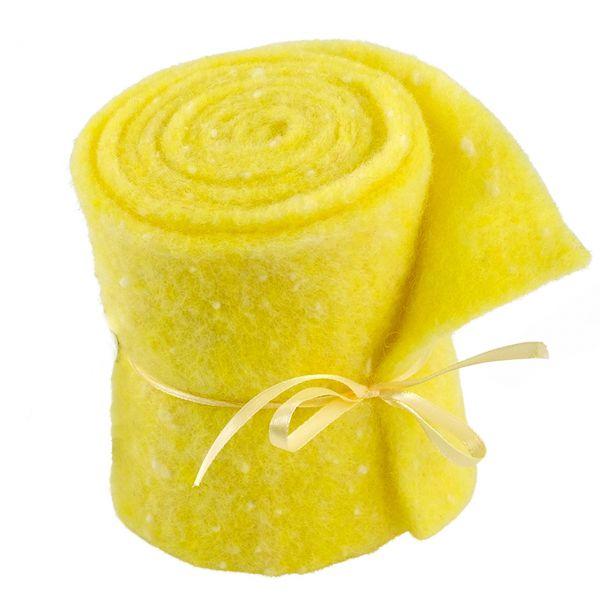 Woll-Filzband extrabreit, gepunktet gelb