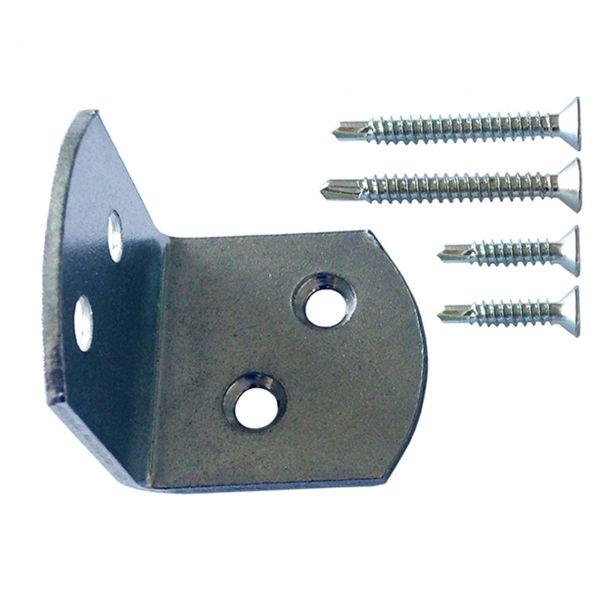 Edelstahl Winkel mit Schrauben für WPC Zaunelement